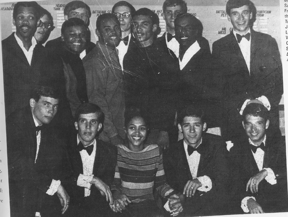 The band poses with Marvin Gay. The Jesters with Jackie Wilson and his band